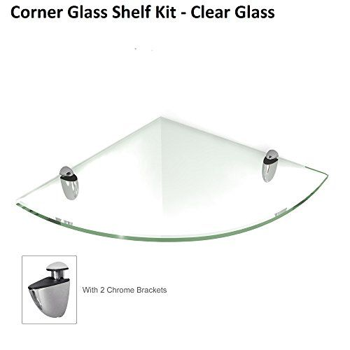 Fab Glass And Mirror 6 X 6 Inch Tempered Corner Glass Shelf Kit With 2 Chrome Brackets Read More Reviews Of The Glass Shelves Floating Glass Shelves Glass