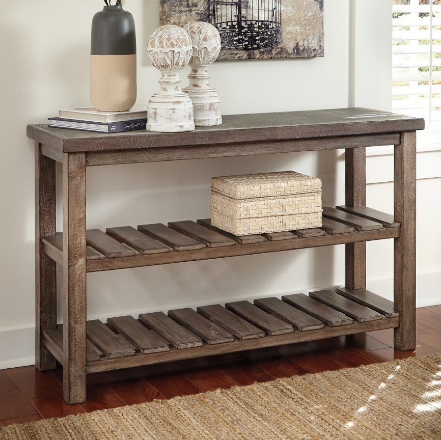 Sofa Table Ideas: Distressed Sofa Console Table