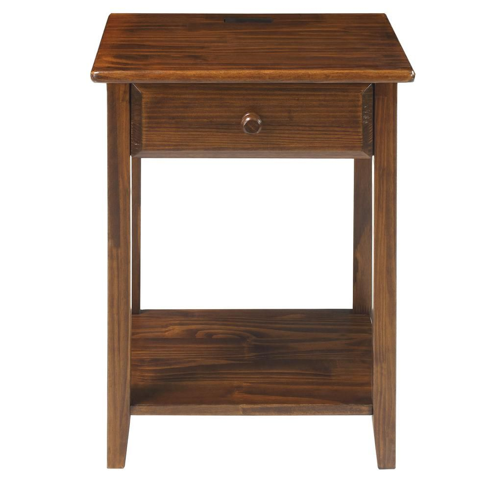 Best Casual Home Night Owl Warm Brown Nightstand With Usb Port 400 x 300