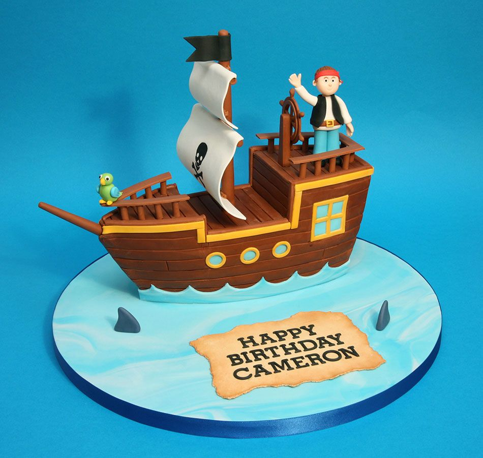 Cake Designs Pirate Ship : Pirate ship birthday cake Boys birthday cake ideas ...