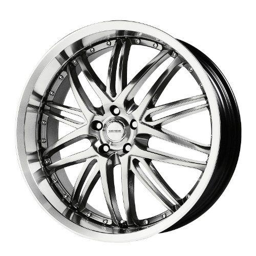 "Verde Custom Wheels Kaos Hyper Silver Dark Wheel with Machined Finish (18x8""/5x4.5"")   $ 153.77 #TireWheelCare             $ 153.77"