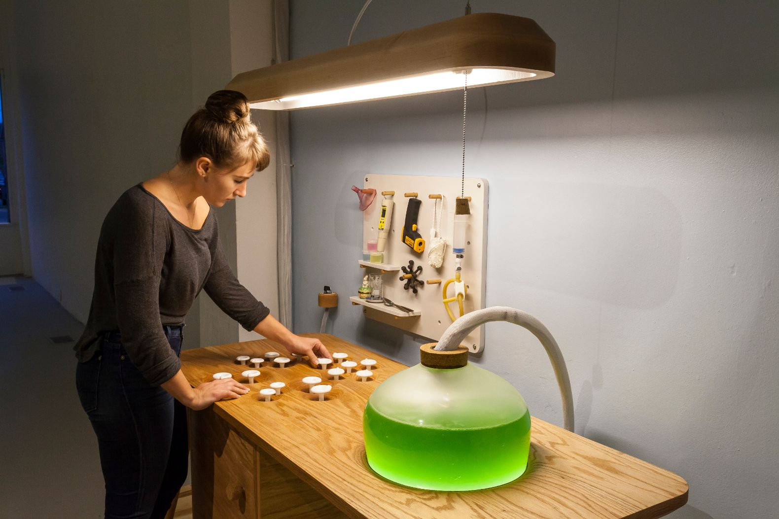 Elegant These Living Algae Lamps Produce Light, Heat, And A Protein Packed Snack
