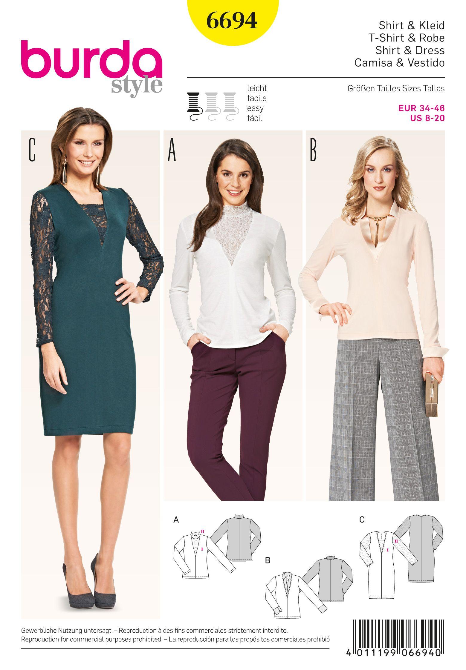 burda style 6694 - Google Search | DIY, Sewing, Knitting and ...
