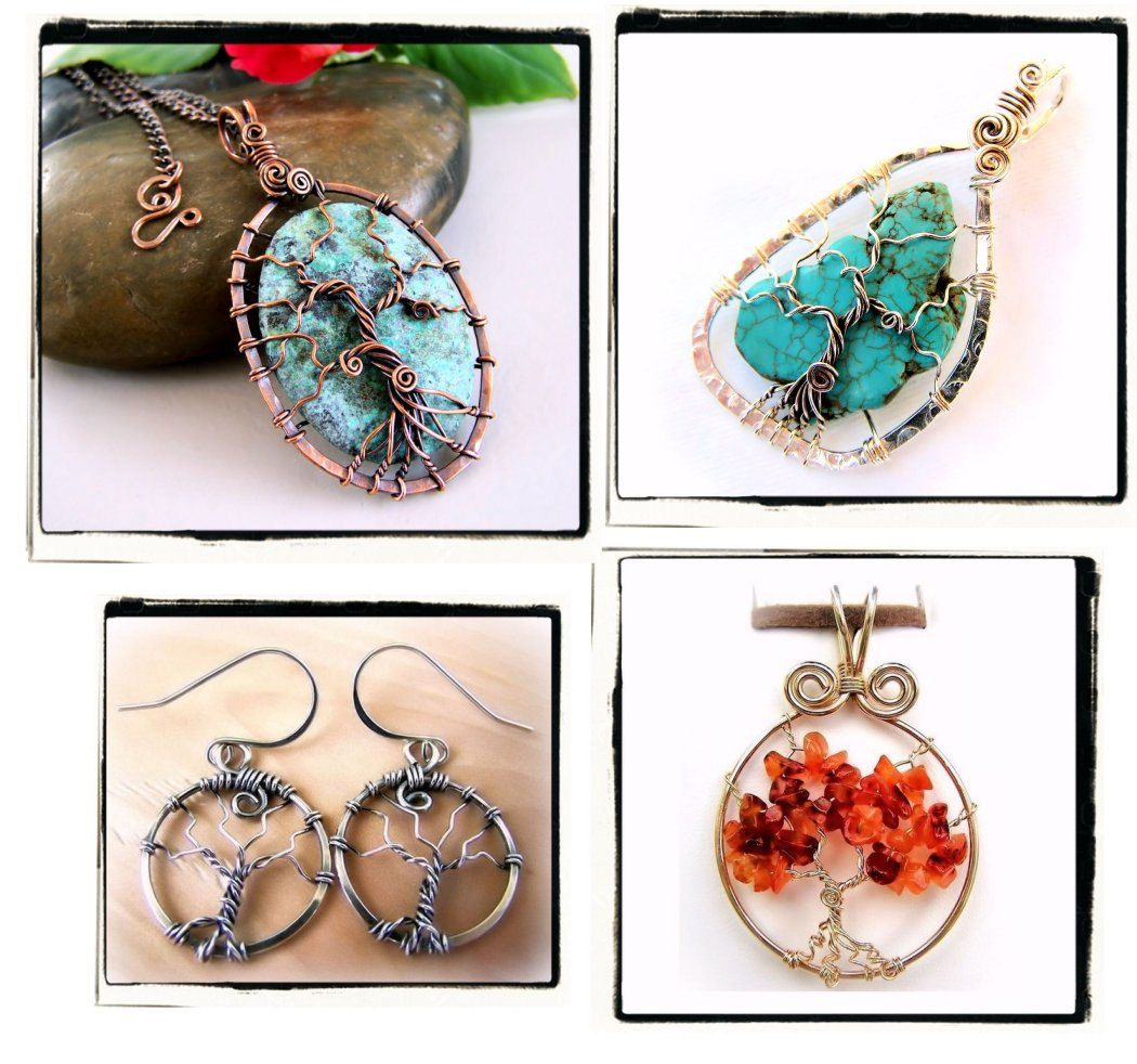 Tree of Life Lovers Wire Wrap Jewelry Lessons 4 TUTORIAL PACKAGE ...