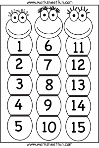 number 15 coloring page. Number Chart 1 15  Projects to Try Pinterest chart