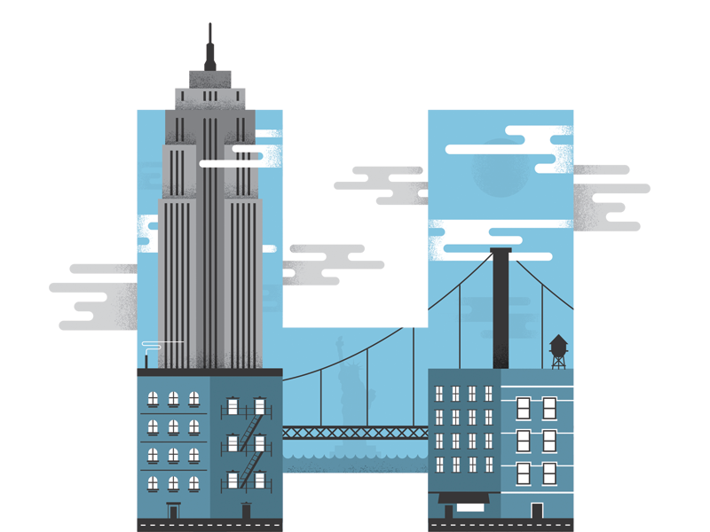 """Huge inc. New York City """"H"""" by Ross Proulx (Ottawa)"""