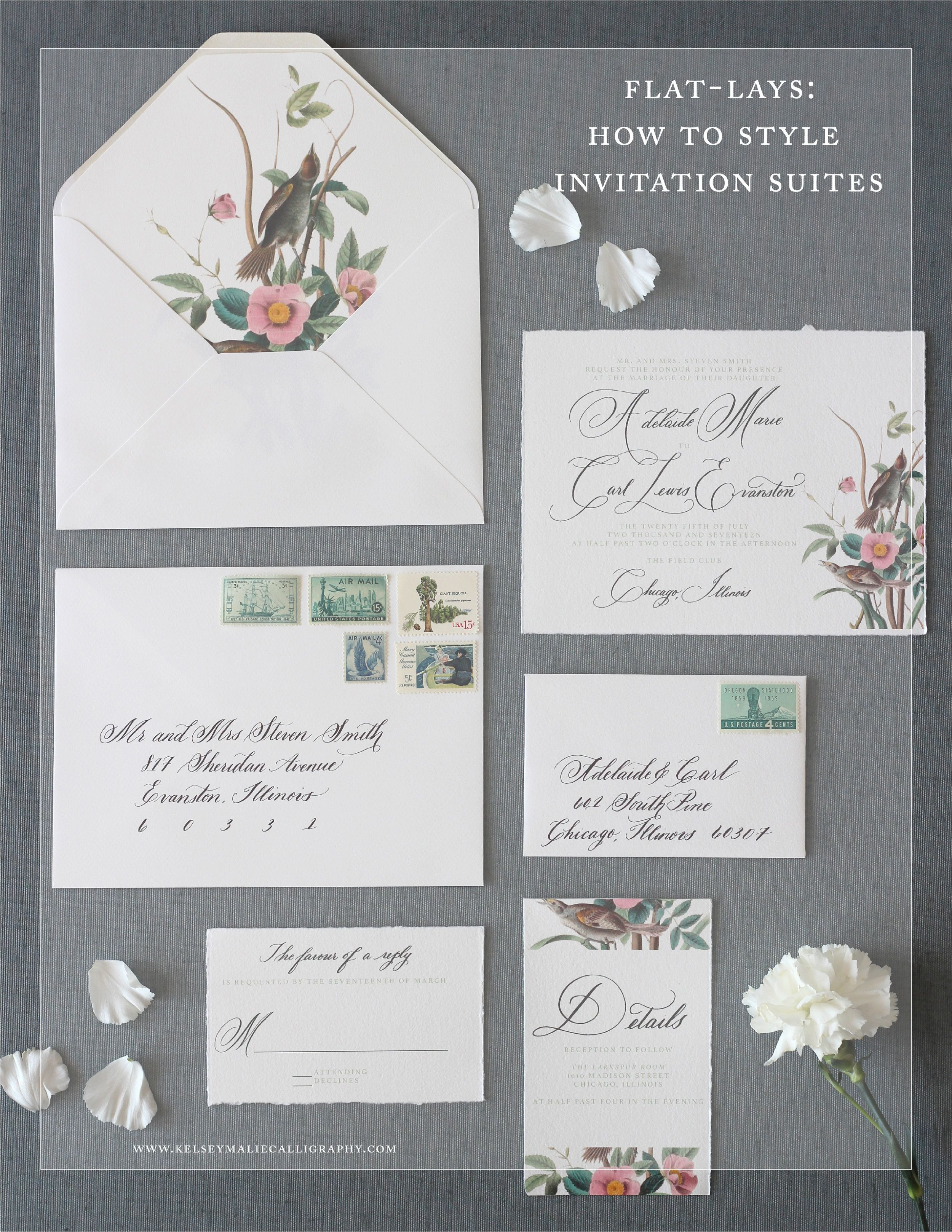 FlatLays How to Style Wedding Invitation Suites