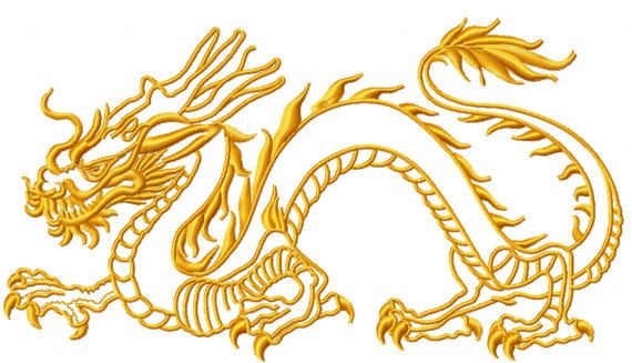 beb58f2b8 Chinese dragon machine embroidery design by MarinaARTsEmbroidery Tribal  Dragon Tattoos, Chinese Embroidery, Chinese Dragon