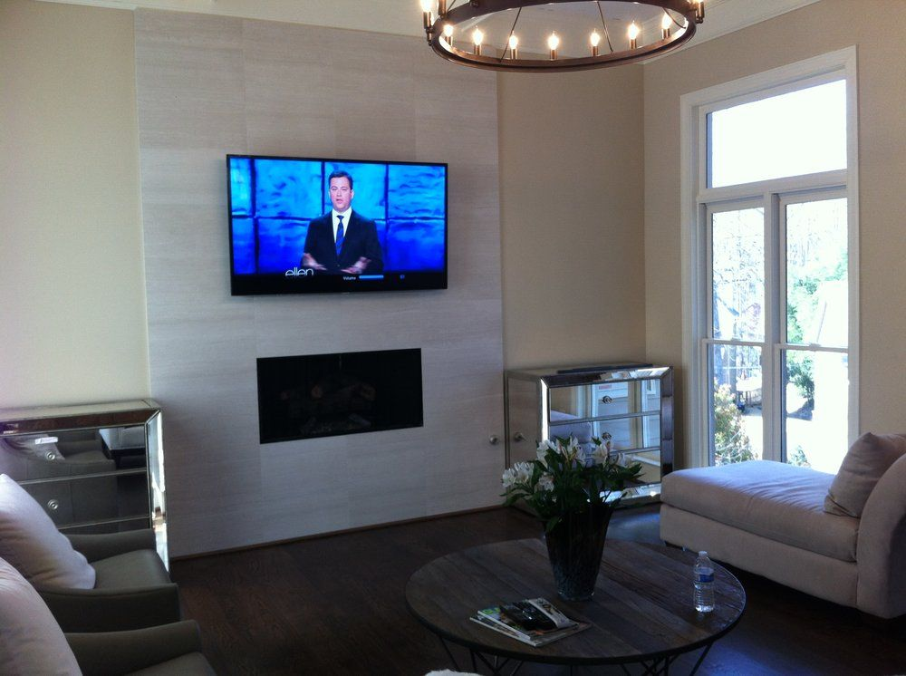 Fireplace Design fireplace tv mount : wall mounted tv with fireplace glass tile - Google Search | TV ...
