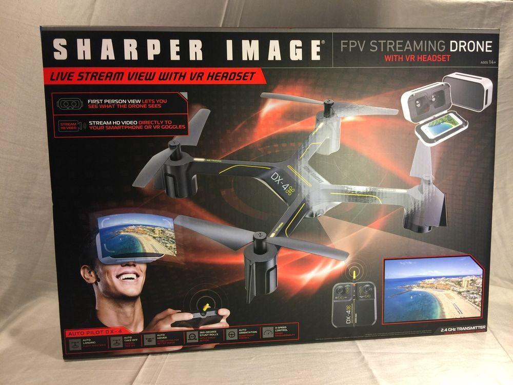 Sharper Image auto Pilot DX4 FPV Streaming Drone w/ VR