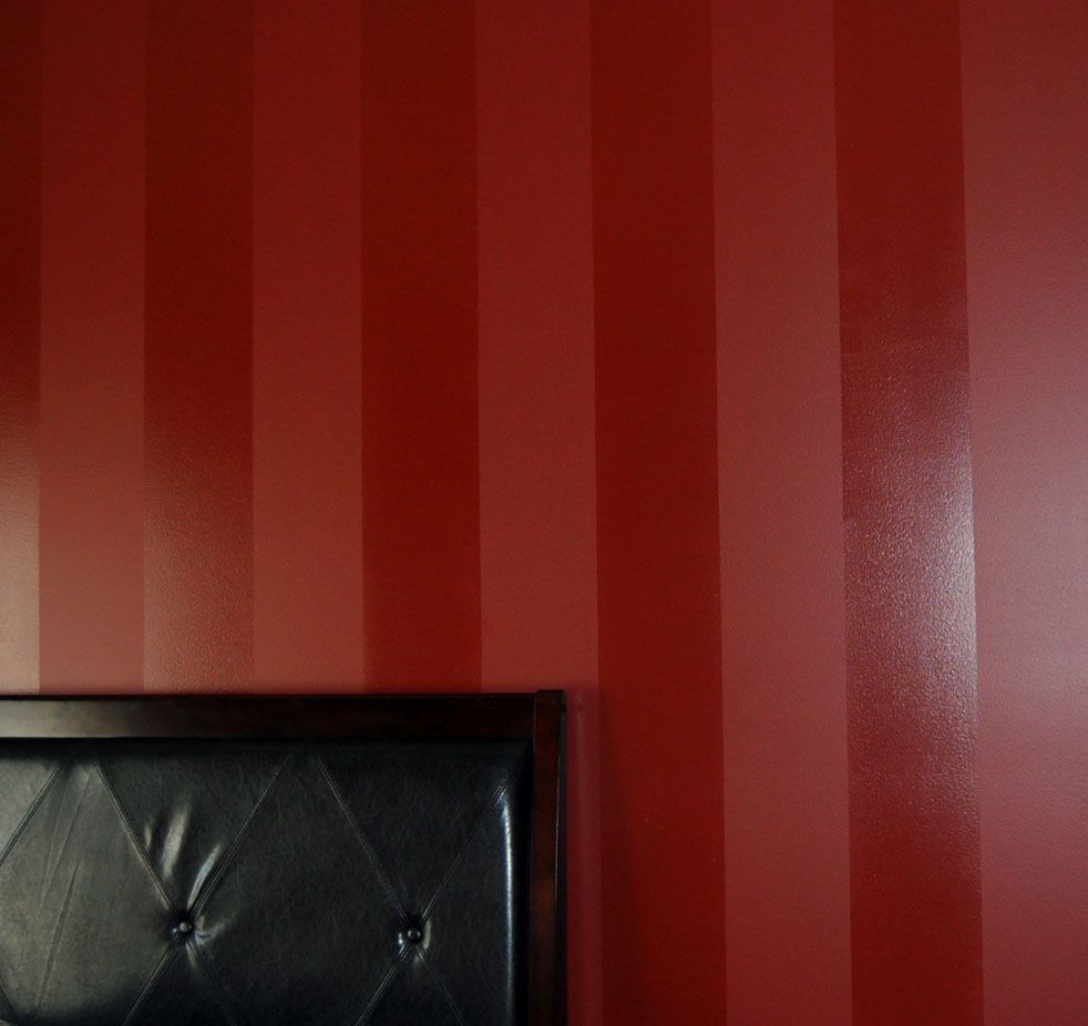 Ideas For Painting Walls Two Different Colors: Davis Creative Painting: Painted Stripe Wall