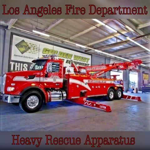 """Los Angeles Fire Department #LAFD has taken delivery of a new 2016 """"Century"""" 50-ton Heavy Rescue which will replace our current 40-ton Heavy #Rescue (HR56).  #Setcom new deliveries"""