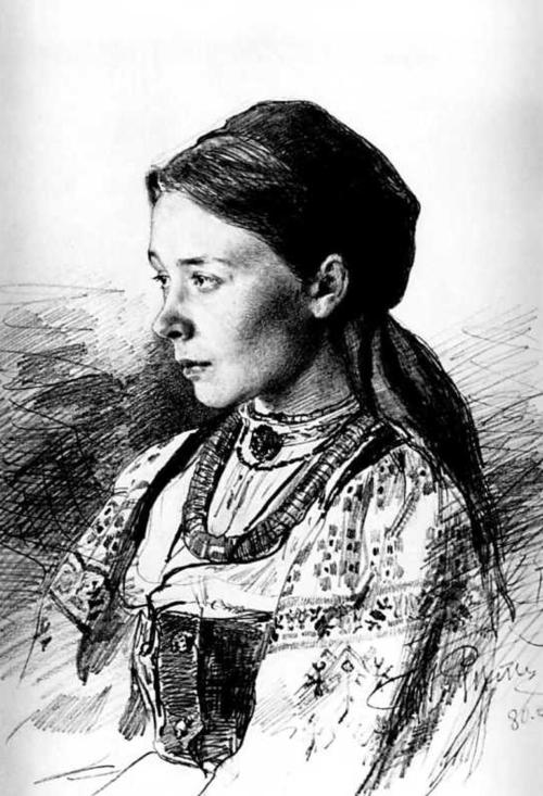 Ilya Repin, Portrait of Maria Artsybasheva, 1880 ukrainian artist woman