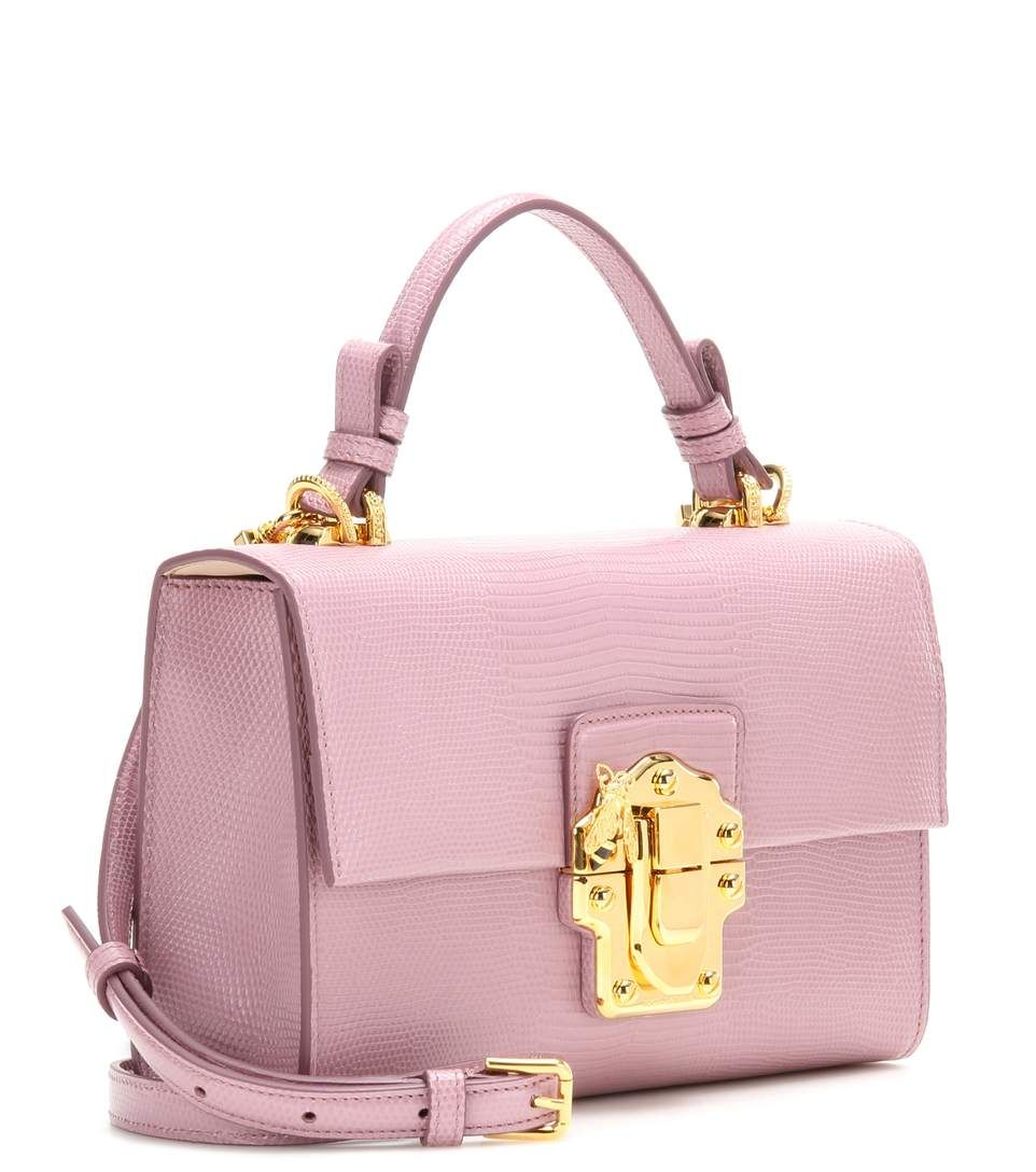 Lucia Topendo East West lilac embossed leather shoulder bag