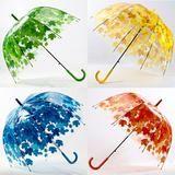 4 Colors Leaves Cage Umbrella Transparent Rainny Sunny Umbrella Parasol Cute Umbrella Women Cute Clear Paraguas #cuteumbrellas