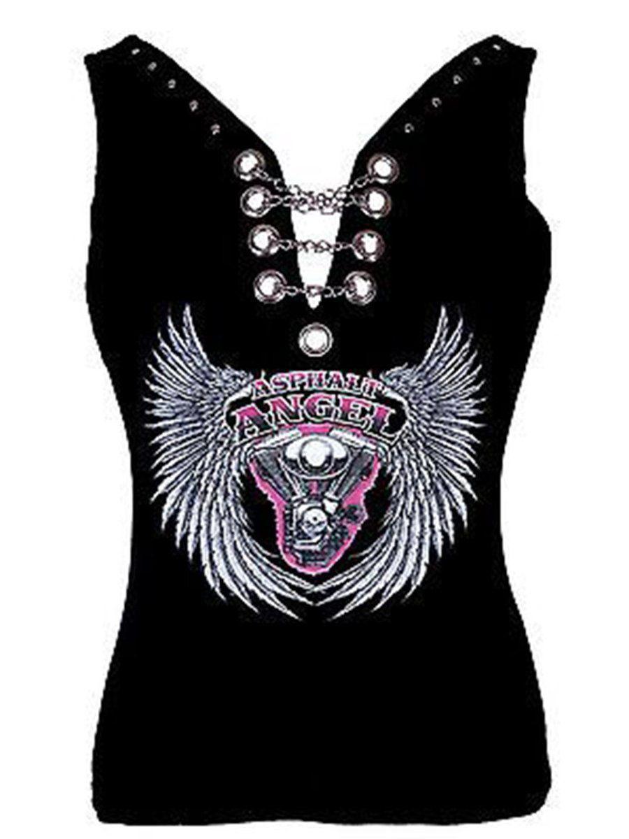 Angel Wings Tattoo Shirt Punk Rocker Rock Chic Biker Ladies Fancy Dress Costume