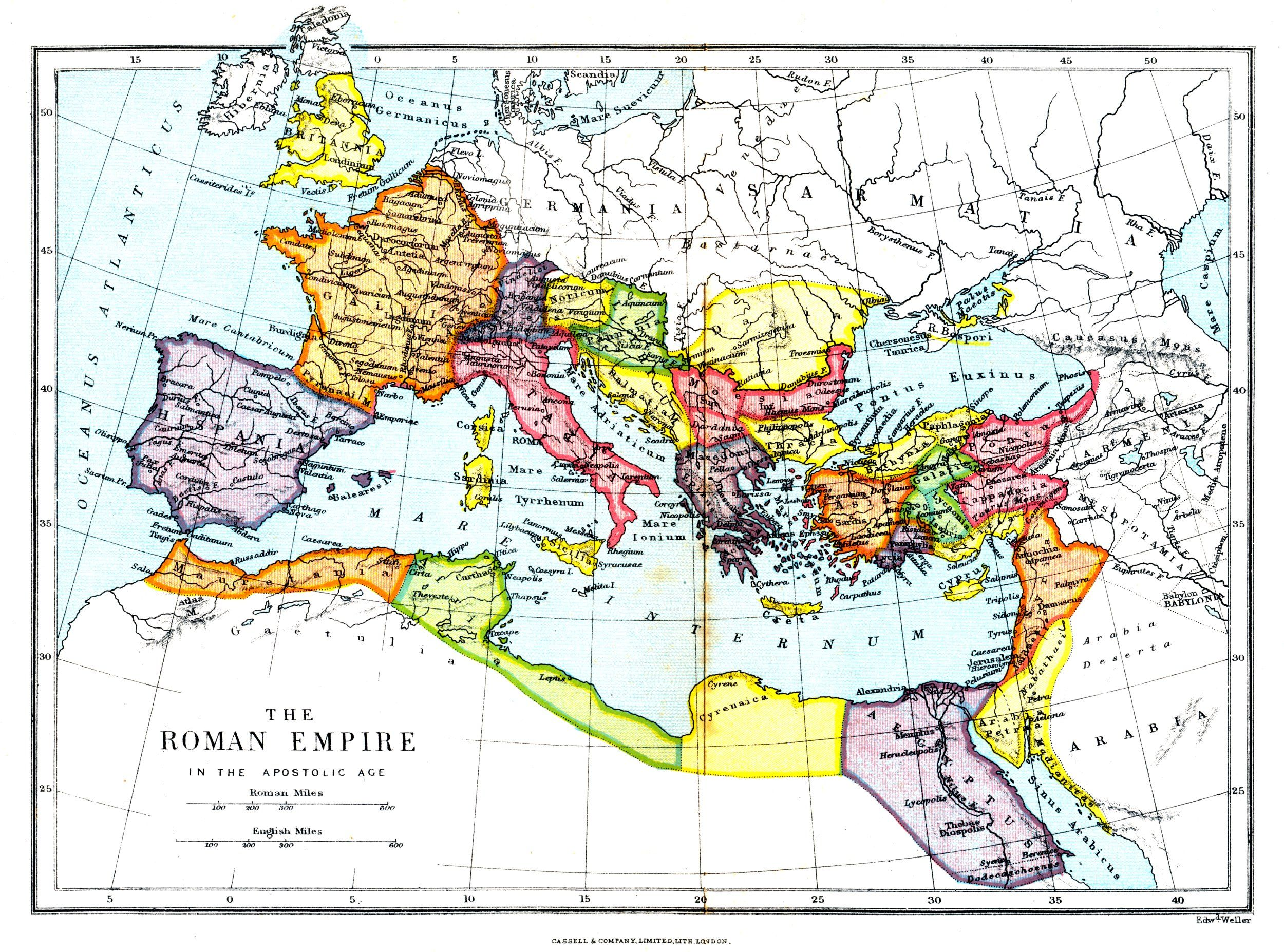 Map of The Roman Empire Maps of the Ancient World Pinterest