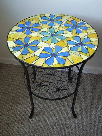19 Round Flowers Mosaic Side Table On Sale Now Only 200 Usd In 2020 Mosaic Table Mosaic Table Top Mosaic Outdoor Table