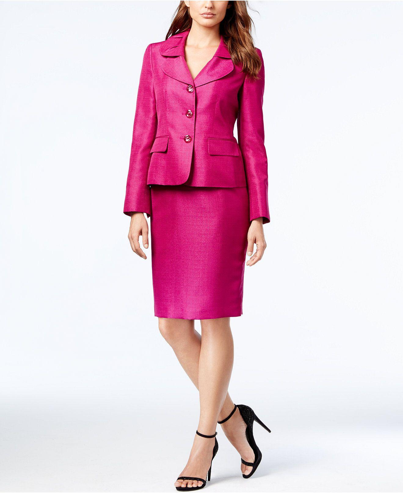 Le Suit Womens Suit-Skirt Set