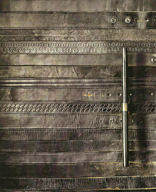 Leather Door (made out of old belts?)