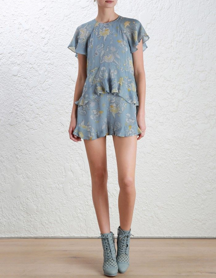 69d7ce0289c Zimmermann Adorn Floating Playsuit. Model Image. p Our model is 5 10 5 and  is wearing a size 0 p