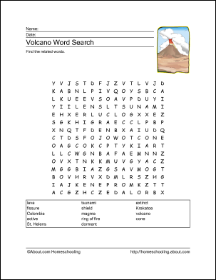 Worksheets Volcano Worksheets top 25 ideas about volcanoes for kids on pinterest bill nye volcano activities and free word search puzzles