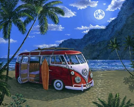 hawaiian beach sunset painting 18x24 inches maui hawaii. Black Bedroom Furniture Sets. Home Design Ideas
