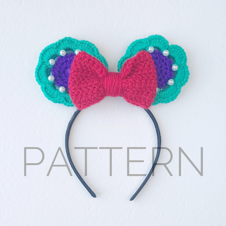 Ariel Inspired Crochet Mouse Earscrochet Patternlittle Mermaid
