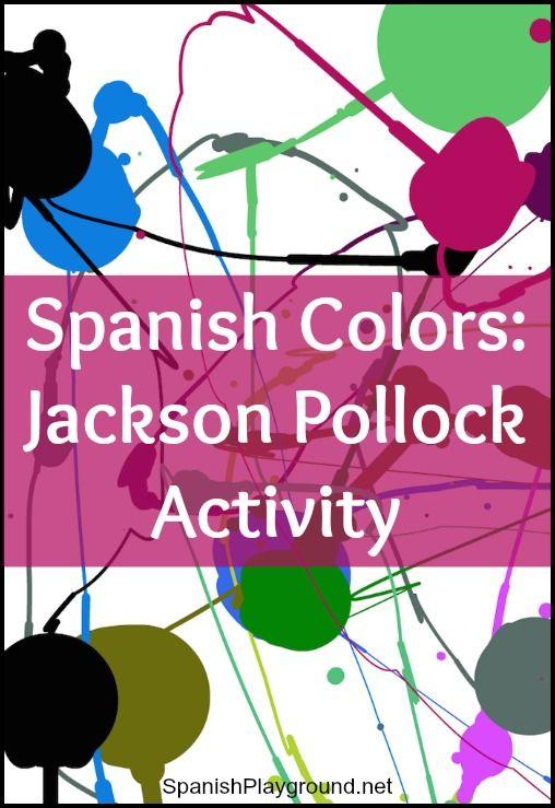 Spanish Colors: Jackson Pollock Online Painting | Spanish for Kids ...
