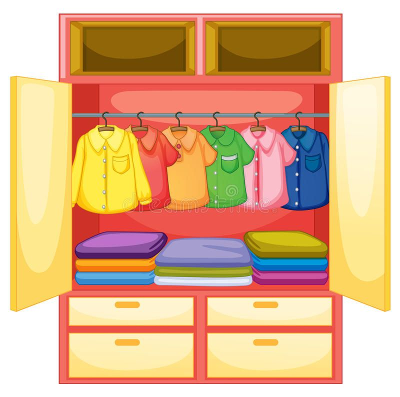 Empty Wardrobe Wardrobe With Clothes On White Spon Wardrobe Empty Wardrobe White Clothes Ad Clip Art Kids Cupboard Paper Furniture