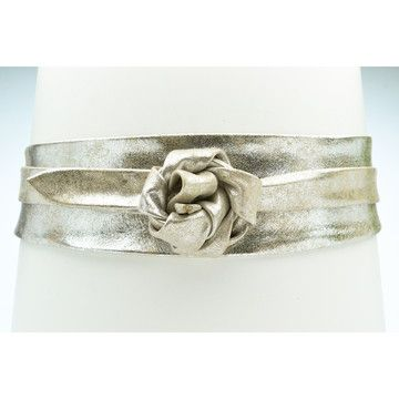 SILVER: leather wrap belt, comes in several colors, love!