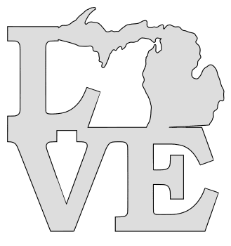 Michigan Map Outline Printable State Shape Stencil Pattern Map Outline Mittens Template Scroll Saw Pattern