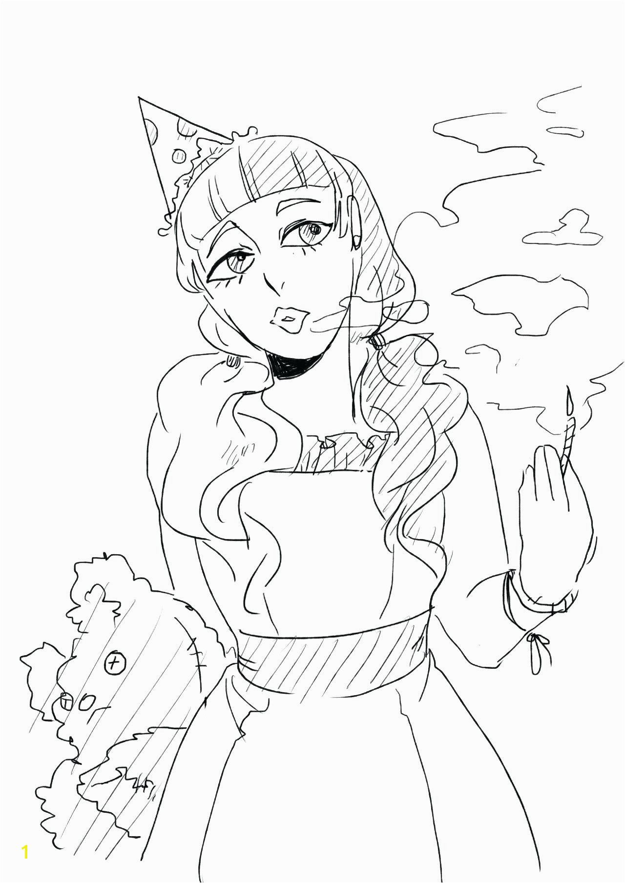 Cry Baby Coloring Page Melanie Martinez Google Search Mermaid
