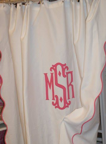 Monogrammed Shower Curtain!! | The Pink Monogram | Pinterest ...