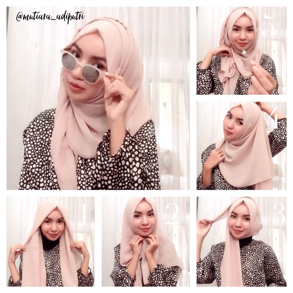 This Hijab Style Is Suitable For Daily Look Or Women S Who Loves Simplicity But Still Beauty The Step Is Very S Gaya Hijab Pakaian Wanita Model Pakaian Muslim