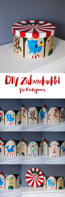 DIY Zirkus Schachtel fürs Kinderzimmer Aufbewahrungs