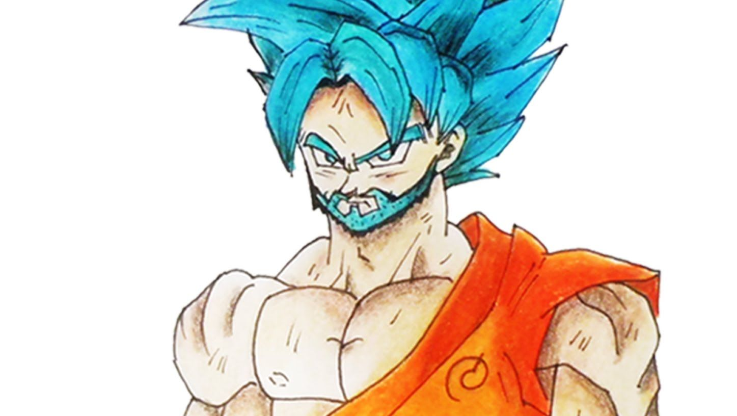 Como dibujar a goku ssjdssj con barba how to draw goku ssgss with beard