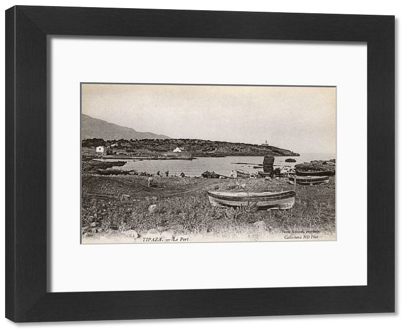 Framed Print-View of the port, Tipaza, Algeria, North Africa-14