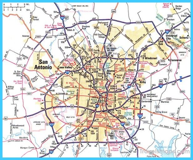 Awesome Map Of San Antonio Texas Texas Map With Cities Map San