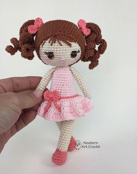 Artesanatos: Faça e Venda: Vídeo tutorial de boneca amigurumi | 580x457