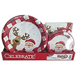 Celebrate Christmas Holiday Party Paper Plates u0026 Napkins (50 - 6.75  Paper Plates /  sc 1 st  Pinterest & Celebrate Christmas Holiday Party Paper Plates u0026 Napkins (50 - 6.75 ...