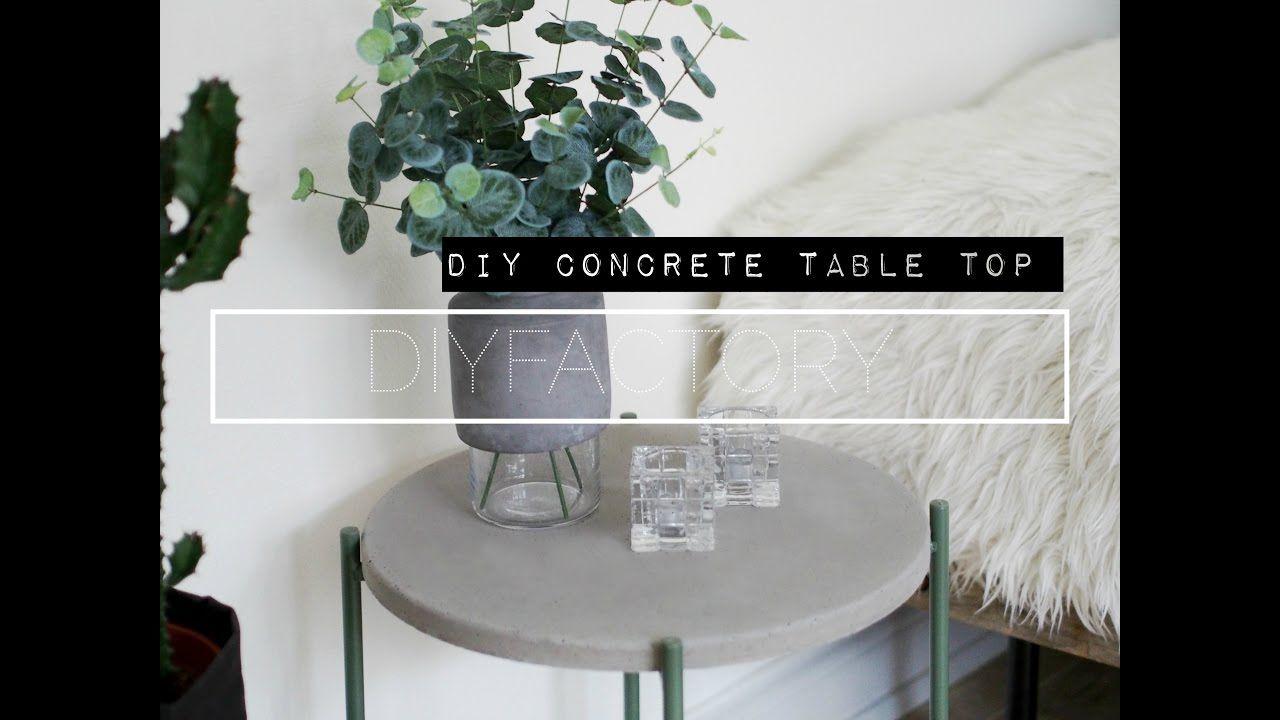 Diy Concrete Table Top Ikea Hack Youtube Concrete Diy Concrete Table Top Concrete Table [ 720 x 1280 Pixel ]