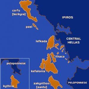 carte Corfou et îles Ioniennes | Grèce | Pinterest