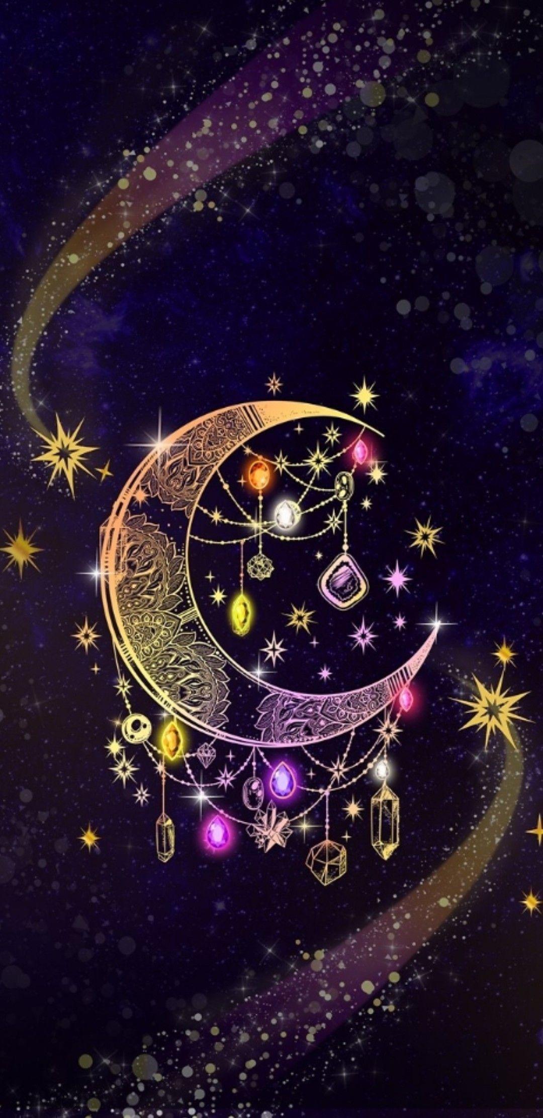 Pin By Bảo Anh On Dreamcatchers Gothic Wallpaper Dreamcatcher Wallpaper Moon Art