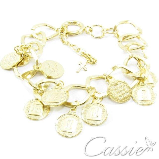 Bom dia!!! Pulseira 10 Mandamentos, folheada a ouro. Super linda!!! #cassie #semijoia #bomdia #good #happy #instamoda #inlove #moda #fashion #pulseira #pulseirismo #pagseguro #likes #look #estilo