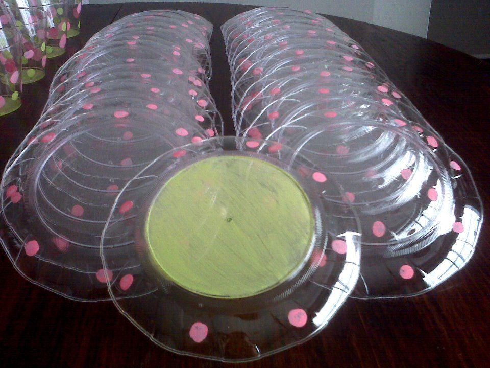 paint cute dots around outer edge (under-side) of clear plastic plates for & paint cute dots around outer edge (under-side) of clear plastic ...