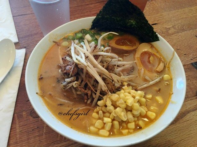 Spicy Miso Ramen. Added corn.