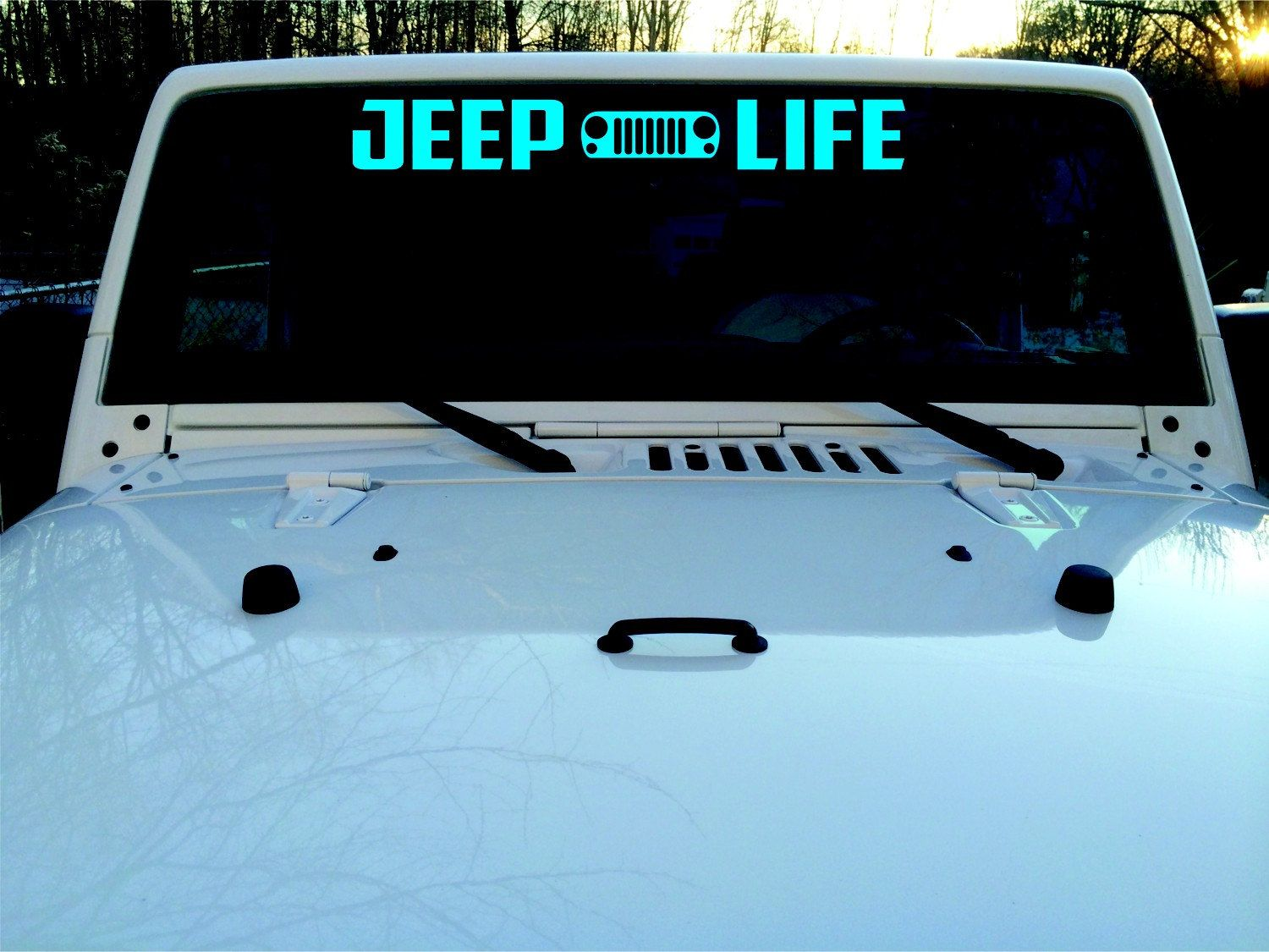 Windshield Decal, Banner, Off Road Decal, Jeep Life