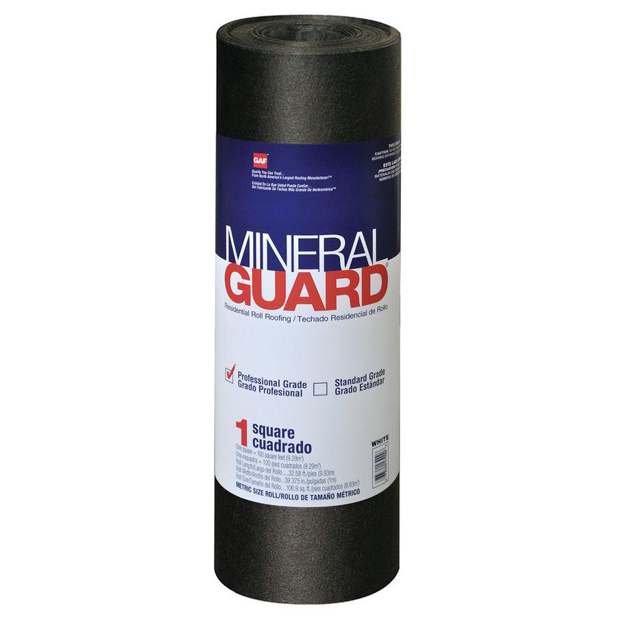 Gaf Mineral Guard 3 28 Ft W X 32 58 Ft L 100 Sq Ft Charcoal Roll Roofing In Black 1002180 In 2020 Roll Roofing Roofing Minerals