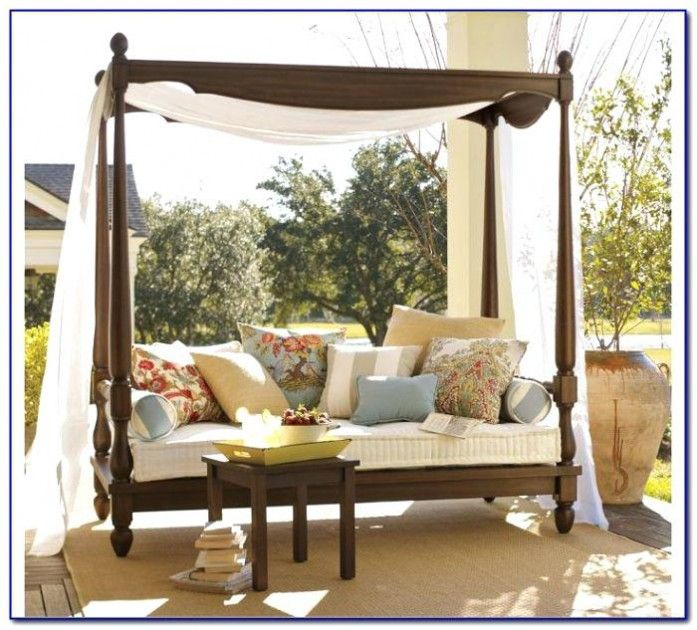 Patio daybed canopy gazebo swingcalm day bed with rattan Outdoor daybed with canopy